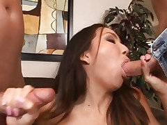 Keeani Lei is double drilled by a couple of cocks
