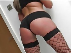 Emma Butt is fully screwed in her fishnet stockings