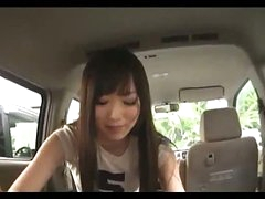 Asian Girl Engulfing Guy Cock Giving Cook jerking Cum To Hand In The Back Of The Car