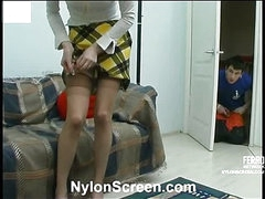 Ninette&Vitas nylon pair in action