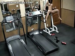Just look at this perverted brunette hair hair babe going avid in the gym when alone! 1st she's exercising in no thing but nylon pantyhose and then she's stripping it likewise and widening her kewl legs wide as if gagging for deep penetrations!