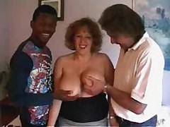 Classy crumpet with massive soft brassiere buddies receives ready to satisfy even 2 rock hard dicks! That babe sucks one as well as the other weenies and moves on them furiously!