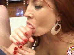 Aged playgirl Brittany Oconnell receives a load of cum squirted in her mouth.