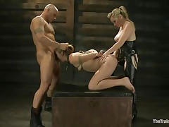 Chastity Lynn is a submissive girl eager to fulfill her black raunchy desires. Aiden Starr and her friend Derrick Pierce are there to give her what this babe needs. The mature hawt honey with a ding-dong goes on and copulates her shaved pussy, while the white fellow bashes her mouth roughly. They have a great time together.