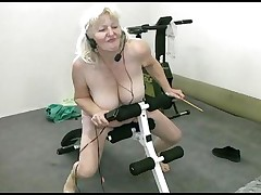 She's old, fat but still knows how to have a great time! Bohunka is bare in her exercise room and this babe listens to music while doing her fitness. Look how good this babe feels and how much enjoyment this granny has. That babe has greater amount energy then a juvenile chick and we wonder... how good this babe is in bed with a big hard, juvenile cock.