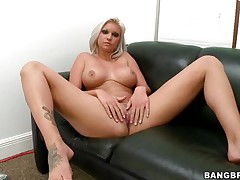 Slut with short blonde hair, Deadra Dee, is showing her big titties and spreading her legs as this playgirl spreads her cookie for you too. See her wet cookie as this playgirl is masturbating for pleasure. On a couch, expecting for a 10-Pounder with her nude body this doxy is willing to get screwed hard. And as a rod came, this playgirl started blowjob instantly!