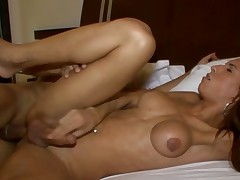 Hawt shemale implements her wild anal fantasies