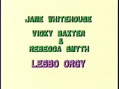 British lesbo trio on a ottoman