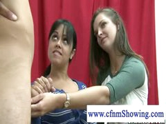 Cfnm angels slutty for cum jerking cock during drawing classes