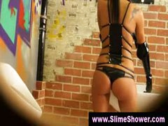 Gloryhole gals soaked and immodest shower
