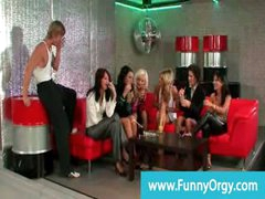 Fancy rich girls night out receives naughty
