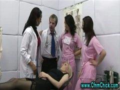 Cfnm doctor sluts take turns